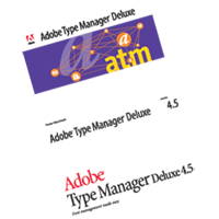 ADOBE TYPE MANAGER LOGOS vector