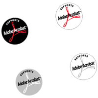 Adobe Acrobat Support logos preview