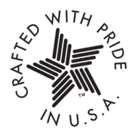 CREATED WITH PRIDE IN USA vector