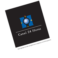 canal 24 horas tv vector
