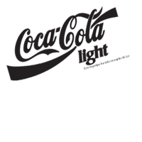 coca cola light vector