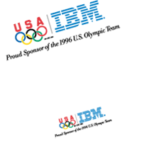 IBM Olympic games logoB vector