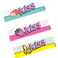 KISS CHOCOLATES vector
