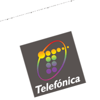 telefonica colores vector