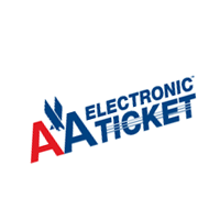 AA Electronic Ticket vector