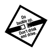 BUCKLE UP-DONT DRINK vector