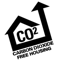 CO2 FREE HOUSING vector