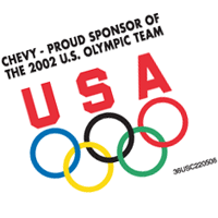 Chevy - Sponsor of Olympic Team 283 vector