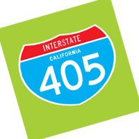 Interstate 405 vector