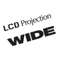 LCD Projection Wide vector