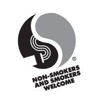 Non-smokers and smokers welcome vector