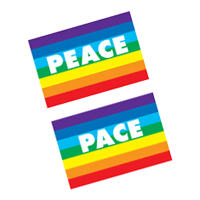 Peace flag vector